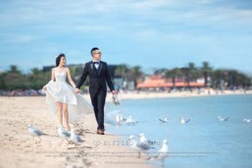 来到墨尔本,St Kilda沙滩的婚纱照一定要有!