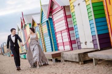 来到墨尔本,彩虹小屋的婚纱照一定要有!